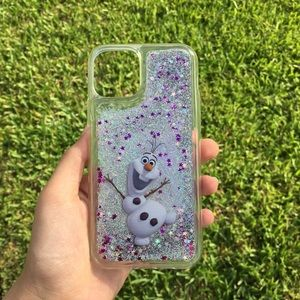 Olaf Frozen Disney Quicksand Glitter iPhone Case